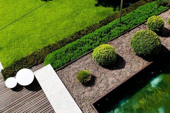 Garten aus der Vogelperspektive » Braun Gartenform